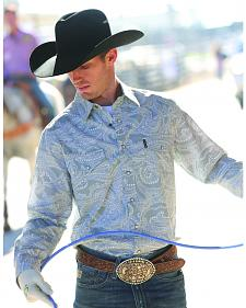Cinch Grey Paisley Modern Fit Long Sleeve Western Shirt
