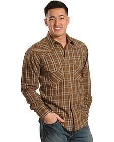 Ariat Hearne Chestnut Plaid Retro Snap Long Sleeve Shirt