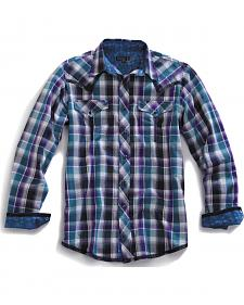 Tin Haul Men's Garage Plaid Snap Western Shirt