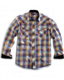 Tin Haul Men's Sunrise Plaid Snap Western Shirt