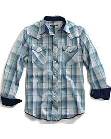 Tin Haul Men's Sonic Plaid Snap Western Shirt
