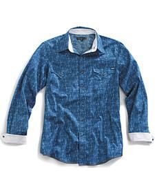 Tin Haul Men's Distressed Paisley Print Snap Western Shirt