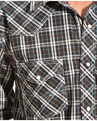 Red Ranch Blue and Brown Plaid Western Shirt at Sheplers