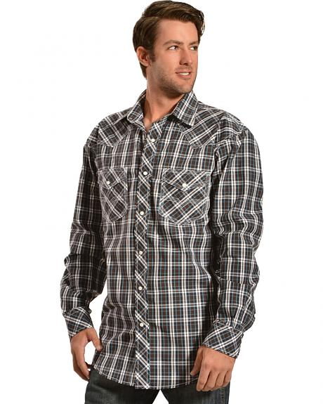 Red Ranch Blue and Brown Plaid Western Shirt