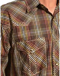Red Ranch Small Brown Check Western Shirt at Sheplers