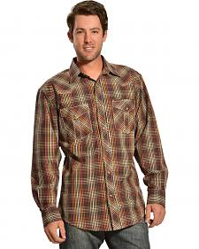 Red Ranch Small Brown Check Western Shirt