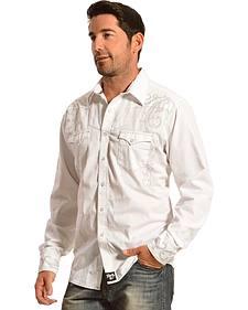Wrangler Rock 47 White Exclusive Long Sleeve Shirt