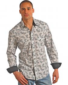 Rock and Roll Cowboy Black and White Print Shirt
