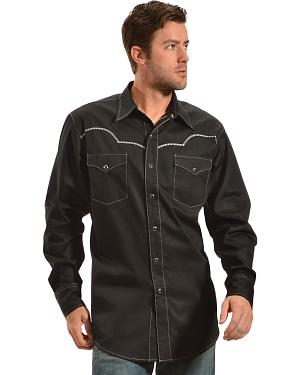 Red Ranch Black and Silver Embroidered Western Shirt - Sheplers Exclusive