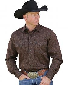 Cinch Men's Long Sleeve Modern Fit Paisley Shirt