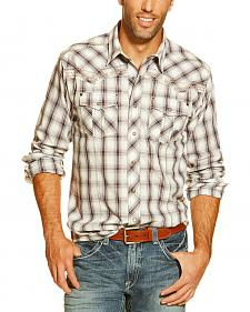 Ariat Men's Caesar Plaid Long Sleeve Snap Shirt