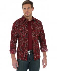 Wrangler Men's Retro Red Paisley Shirt