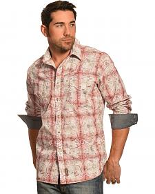 Wrangler Retro Plaid with Wine Overprint Shirt