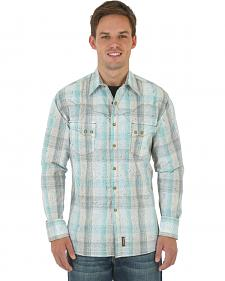 Wrangler Retro Men's Khaki Overprint Western Shirt