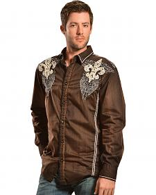 Roar Long Sleeve Rampage Brown Shirt
