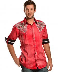 Roar Men's Uptown Red Long Sleeve Shirt