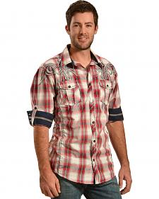 Roar Men's Long Sleeve Wild Hearted Plaid Shirt