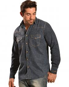 Ryan Michael Men's Double-Dye Paisley Shirt