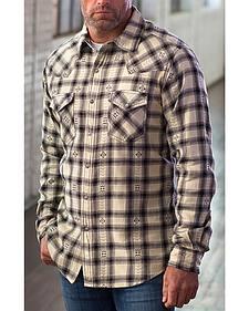 Ryan Michael Men's Black Hawk Plaid Shirt