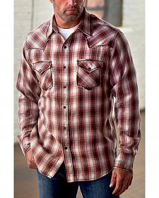 Ryan Michael Men's Vintage Dobby Plaid Shirt