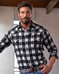Ryan Michael Men's Ikat Gingham Shirt