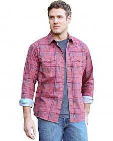 Wrangler Retro Men's Red Plaid Western Shirt