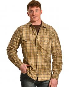 Ryan Michael Men's Dobby Plaid Shirt