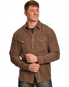 Ryan Michael Men's 4-Needle Silk Cotton Twill Shirt