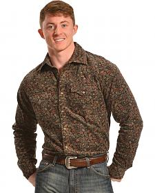 Ryan Michael Men's Paisley Corduroy Print Shirt