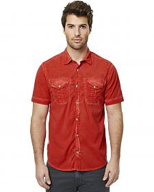 Buffalo Men's Red Sakud Short Sleeve Shirt