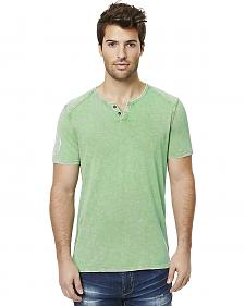 Buffalo Men's Green Narwayne Slit Neck T-Shirt