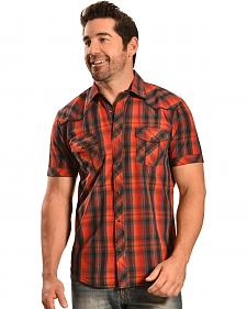 Ely Cattleman Men's 1878 Dobby Plaid Short Sleeve Snap Shirt