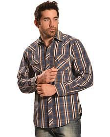 Ely Cattleman Men's 1878 Dobby Plaid Long Sleeve Snap Shirt