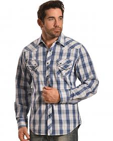 Ely Men's 1878 Navy Plaid Western Shirt