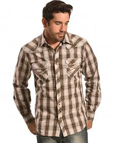 Ely Men's 1878 Brown Plaid Western Shirt