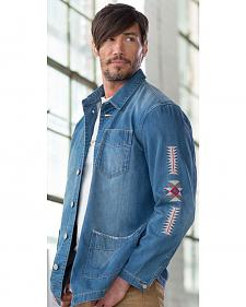 Ryan Michael Men's Denim Embroidered Jacket