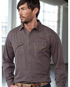 Ryan Michael Men's Textured Stripe Silk Shirt
