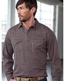 Ryan Michael Men's Textured Stripe Silk Shirt