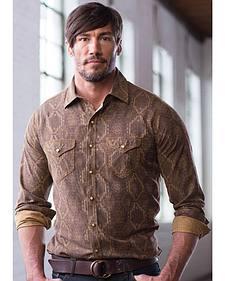 Ryan Michael Men's Aztec Silk Jacquard Shirt