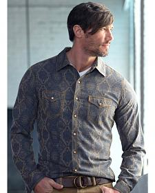 Ryan Michael Men's Aztec Silk Jacquard Shirt