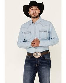 Wrangler Retro Men's Long Sleeve Denim Snap Shirt