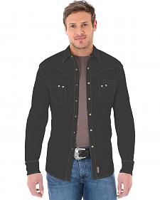 Wrangler Retro Men's Long Sleeve Black Snap Shirt
