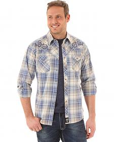 Wrangler Rock 47 Men's Blue Plaid Shirt