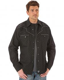 Wrangler Rock 47 Men's Black & Grey Print Shirt
