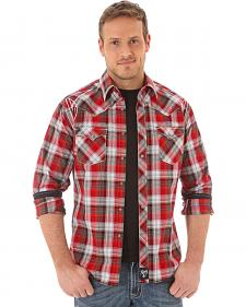 Wrangler Rock 47 Men's Red Plaid Shirt
