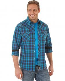 Wrangler Rock 47 Men's Navy Plaid Shirt
