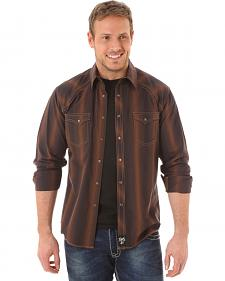 Wrangler Rock 47 Men's Brown Stipe Shirt