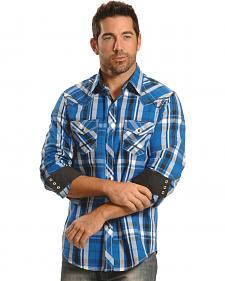Ely Men's 1878 Blue Plaid Western Shirt