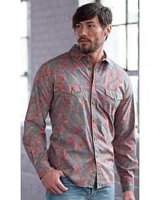 Ryan Michael Men's Spice Vintage Paisley Print Western Shirt