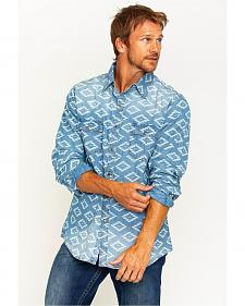 Ryan Michael Men's Aztec Diamond Indigo Western Shirt
